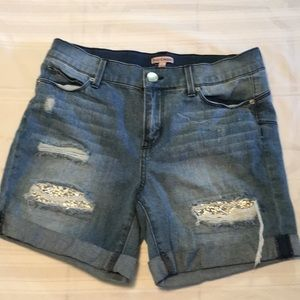 Juicy Couture denim jean shorts size 6 rhinestones